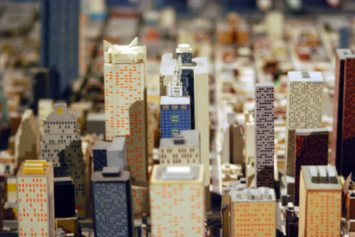 View of midtown Manhattan on the Panorama of the City of New York.