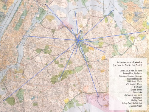 A Collection of Walks Queens Map with Lines