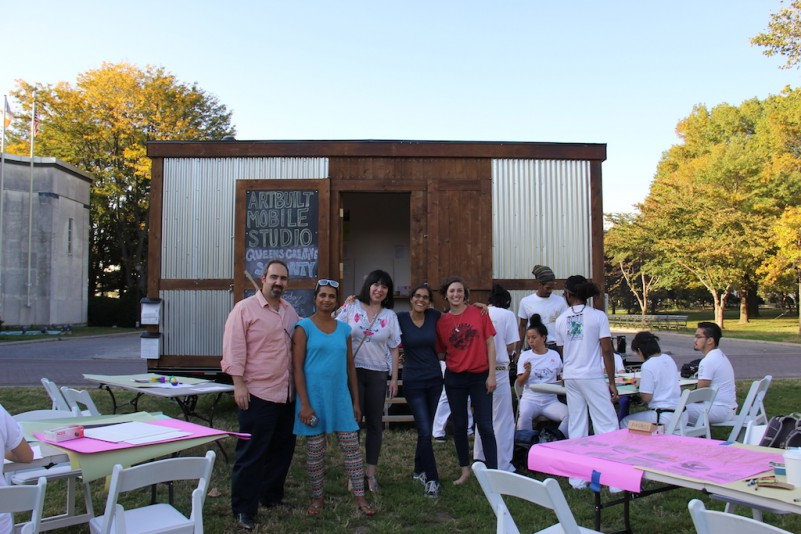 Queens Creative Solidary Mobile Studio in the Park