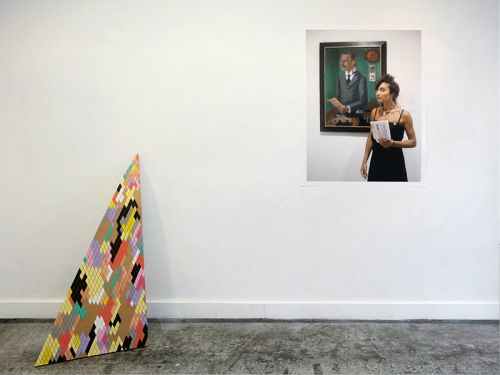 Anna K.E., Profound Approach and Easy Outcome, No. 04, 2009. Mixed media installation view at CapitalGold, Düsseldorf. Courtesy the artist